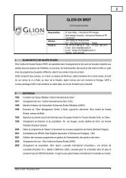 glion en bref - Les Roches International School of Hotel Management