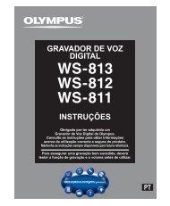 INSTRUÇÕES GRAVADOR DE VOZ DIGITAL - Olympus