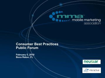 Review of CBP Work in 2009 - Mobile Marketing Association