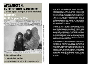 AFGANISTAN, - Institut de Drets Humans de Catalunya