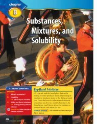 Substances, Mixtures, and Solubility - McGraw-Hill Higher Education