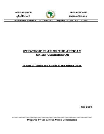 strategic plan of the african union commission - Union africaine