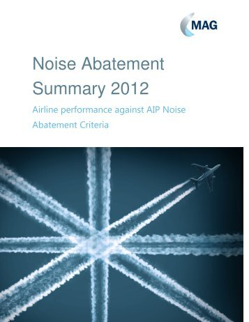 Noise Abatement Compliance 2012 report - London Stansted Airport