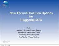 New Thermal Solution Options for Pluggable I/O's - Ethernet ...