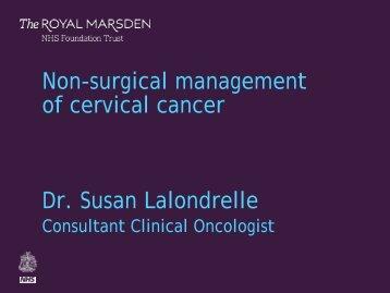 Susan Lalondrelle - Royal Marsden Hospital
