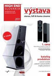 katalóg produktov 1. cena - HIGH END Slovakia