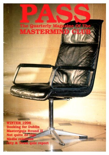 """Link to """"Pass"""" 1998-1 - The Mastermind Club"""
