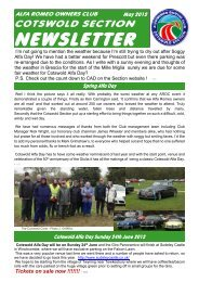 Newsletter May 2012 iss1 - Alfa Romeo Owners Club