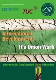 International Development - National Union of Teachers
