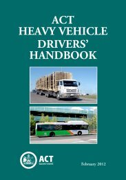 ACT Heavy Vehicle Drivers Handbook 2012 - Rego ACT - ACT ...