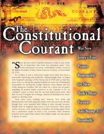 The Constitutional Courant - Garden State Legacy