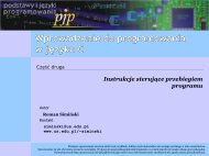 Wprowadzenie do programowania w języku C — instrukcje ...