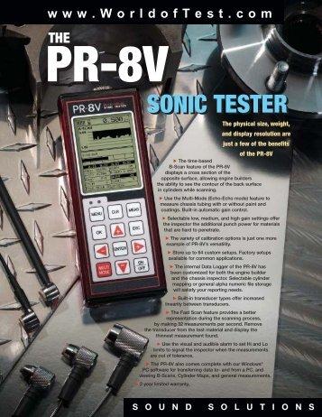 Download & Print PR-8V Multi Visual Sonic Tester Literature (PDF)
