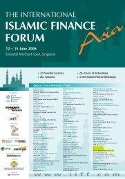 Islamic Finance Forum Singapore - John A. Sandwick