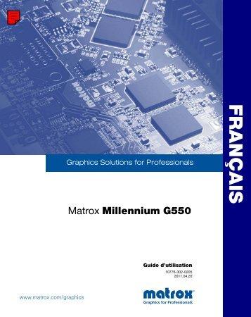 Configuration du logiciel - Matrox