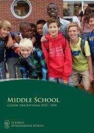 Middle School course descriptions - St. John's International School