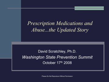 Prescription Medication and Abuse....The Updated Story ... - CASAT