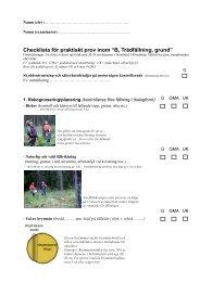 checklista för b-provet - Säker Skog