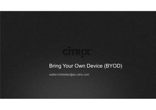 Bring Your Own Device (BYOD) - KFH