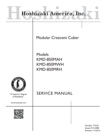 Tech spec's technician's pocket guide hoshizaki america, inc.
