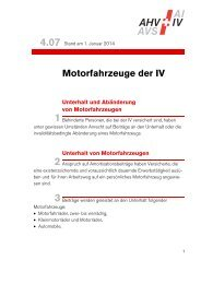 04.07 Merkblatt Motorfahrzeuge der IV - Ausgleichskasse Swissmem