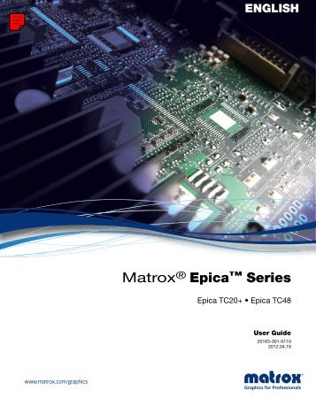 Matrox Epica Series User Guide
