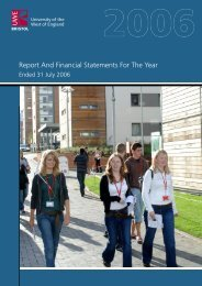 30107 ReportAccountsfinal.indd - University of the West of England