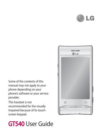 manual de lg gt540 ebook rh manual de lg gt540 ebook tomuch us LG Optimus Specs LG D680
