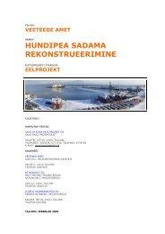 hundipea sadama rekonstrueerimine - Keskkonnaministeerium