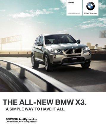 BMW X3 2012 Aire acondicionado con ajuste manual . Alfombrillas ...