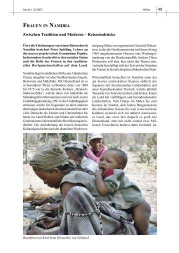 FRAUEN IN NAMIBIA Zwischen Tradition und Moderne – Reiseeindrücke ...