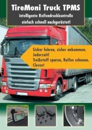 TireMoni Truck TPMS - Reifendruckkontrolle für Nutzfahrzeuge, Busse und Baumaschinen
