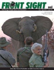 Issue 15 July 2011 - Mid Michigan Chapter Safari Club International