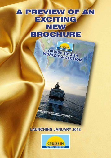 A Preview of An exciting new Brochure - Cruise In