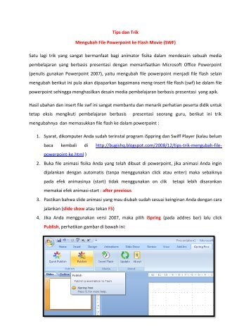 Tips dan Trik Mengubah File Powerpoint ke Flash Movie (SWF) Satu ...