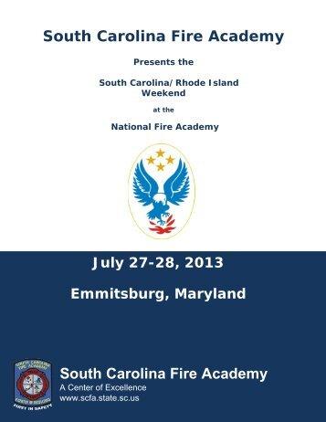 National Fire Academy July 27-28, 2013 Emmitsburg, Maryland ...