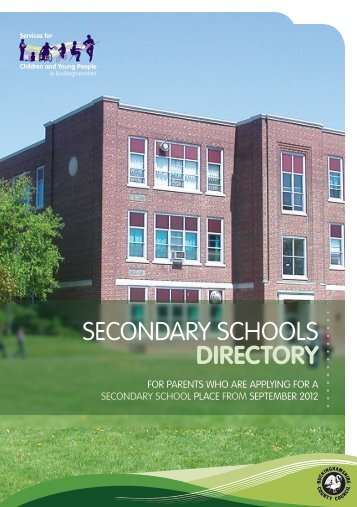Secondary schools directory - Buckinghamshire County Council