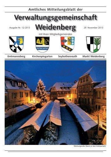 Ausgabe 12 / 2013 - Markt Weidenberg