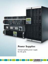 Power Supplies - Phoenix Contact