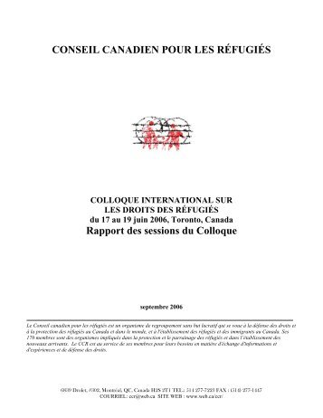 la version .pdf - Canadian Council for Refugees