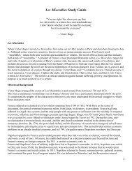 Les Miserables Study Guide - East Aurora Union Free School