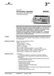 RWX62... Univerzálne regulátory, POLYGYR