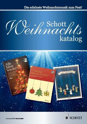 Schott Weihnachtskatalog