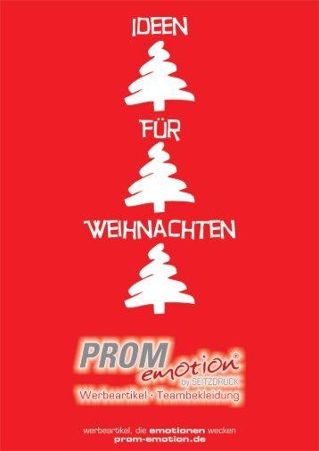 PROMemotion Weihnachtskatalog 2012