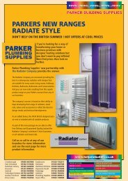 parkers new ranges radiate style - Parker Building Supplies