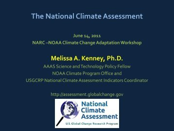 The National Climate Assessment - NARC