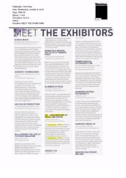 Meet the exhibitors - DIT Update