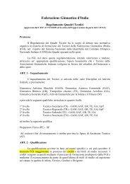Nuovo Regolamento Formazione Quadri Tecnici 2011 - Comitato ...