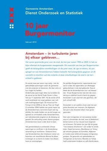10 jaar Burgermonitor - Onderzoek en Statistiek Amsterdam