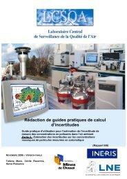Rédaction de guides pratiques de calcul d'incertitudes - LCSQA